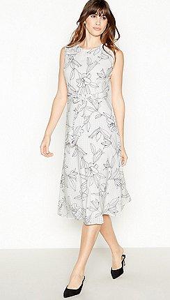 Principles - Ivory Floral midi Shift Dress 1a925ff0d592