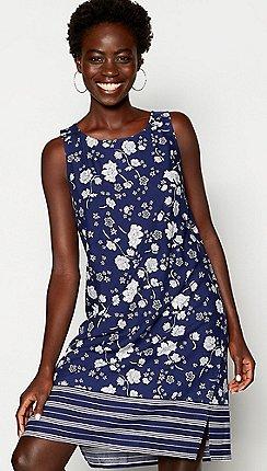 Principles - Blue Floral Knee Length Dress 2754e04c0a5d