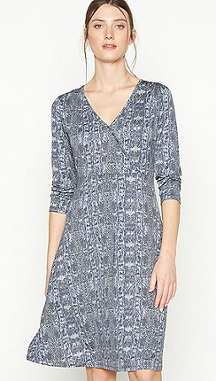 Principles - Grey Snake Print Jersey Knee Length Dress 8db9687b0