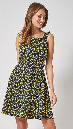 Dorothy Perkins - Multi Colour Tie Waist Fit and Flare Dress 3aca2b923b80