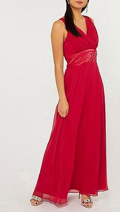 04948335c30 Dorothy Perkins - Showcase petite cranberry aria maxi dress