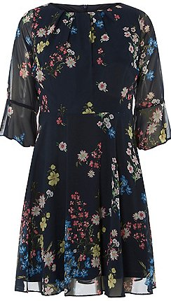 0fc904ccda9 Dorothy Perkins - Billie   blossom petite navy floral print skater dress