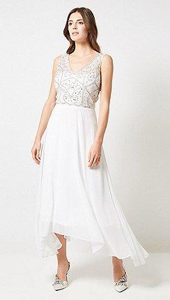 Dorothy Perkins - Showcase Bridal White Adele Maxi Dress 753828ad4de7