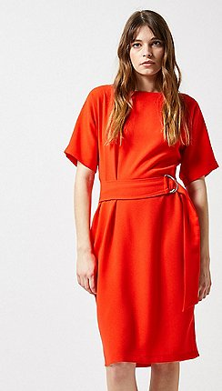 a82c001961c Dorothy Perkins - Lily And Franc Orange Belted Batwing Dress