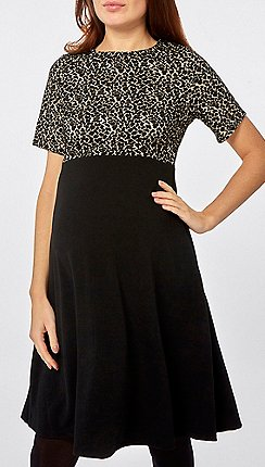 Dorothy Perkins - Animal print jacquard 2-in-1 dress 6d7c49d12