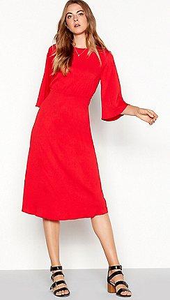 438e9d16e676 3/4 sleeves - red - Vila - Dresses - Sale | Debenhams