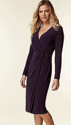 Wallis Purple Ring Side Midi Dress