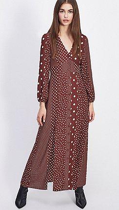 3858a04c31d0 Long sleeves - brown - Maxi dresses - Dresses - Women