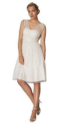 Knee Length White Wedding Dresses Women Debenhams - White Wedding Dress
