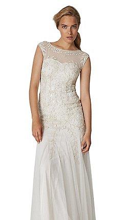 Phase Eight Natural Sabina Embellished Bridal Dress