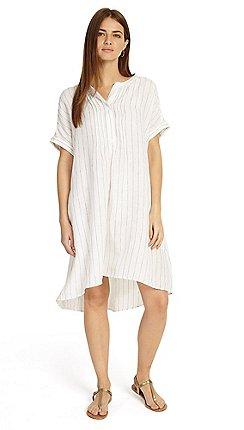 d8aa26b0ec6 Phase Eight - Cream gabriella stripe linen shirt dress