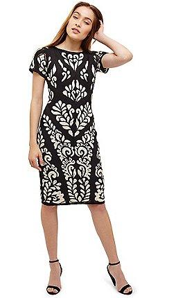 edcffdb44ac Phase Eight - Cream sanna tapework dress