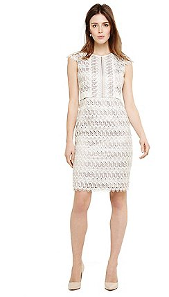 Phase Eight Natural Ally Lace Layered Dress