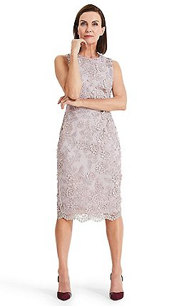 b2cbfc0a7f Phase Eight - Purple Teresa 3D metallic lace dress
