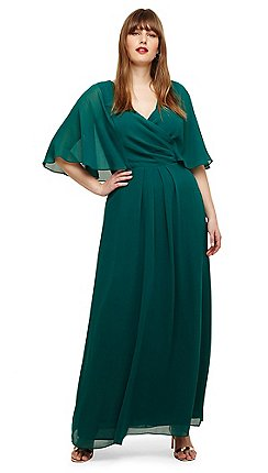 409f2f612ff7f Studio 8 - Sizes 14 to 26 Emerald opal maxi dress
