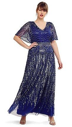 032db8db6b2 Studio 8 - Size 14-26 Cobalt athena beaded maxi dress