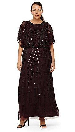 32b2c5637a1 Studio 8 - Sizes 14-26 Phaedra beaded maxi dress