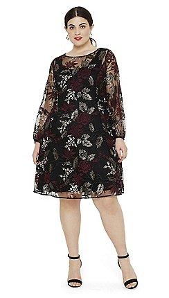 ae3ff86409b Studio 8 - Size 14 to 26 Black multi debra embellished dress