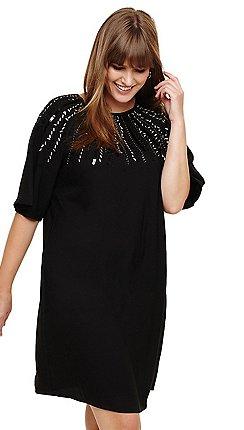 38662f1041520 Studio 8 - Sizes 14-26 Black carrie beaded dress