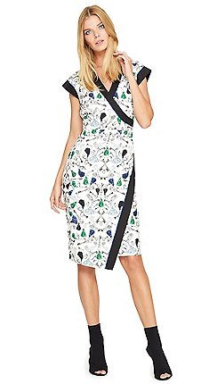 454223b3680 Damsel in a dress - Multicoloured key print dress