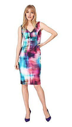 5f69206baa5 Damsel in a dress - Multicoloured mixologist print scuba dress