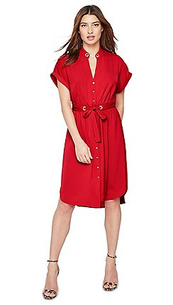 Damsel in a dress - Red Hannah Short Sleeve Tunic Dress 022024443