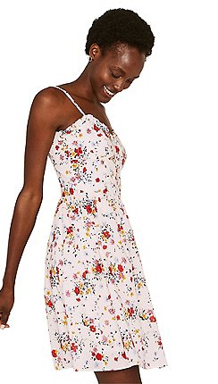 6c4be1b22c Oasis - Multicoloured natural bouquet cotton corset sundress