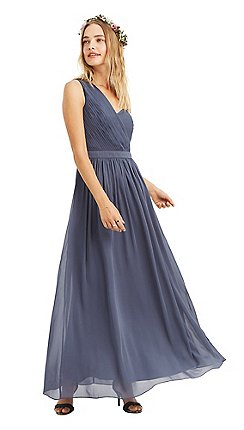 3d71a927e18 Oasis - Mid grey  Maddie  one shoulder chiffon maxi dress