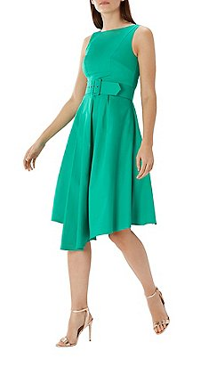 Coast Green Isabelle Belted Cotton Dress