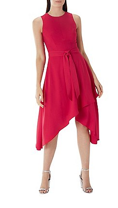 Coast Raspberry Red Sasha Soft Belted Dress