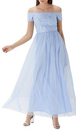 Coast Sky Blue Jaya Sequin Embellished Tulle Maxi Dress