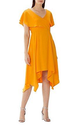 Coast Orange Sara Soft Wrap Midi Dress