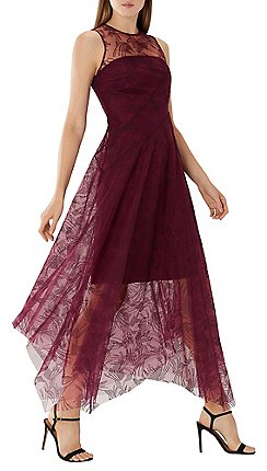 Coast Purple Merlot Aldora Embroidered Dress