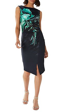 Coast Fl Dawn Scuba Asymmetric Shift Dress