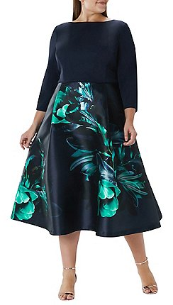 Coast Fl Dawn Full Midi Dress Curve