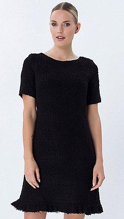 2cc8726a0e8 Explosion London - Black round neck short sleeves dress