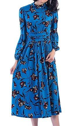 21af139bd71c Jolie Moi - Turquoise printed turtleneck midi dress