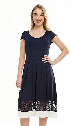 d88b562aa5 Anna Field - Dark Blue Lace Hem Jersey Dress