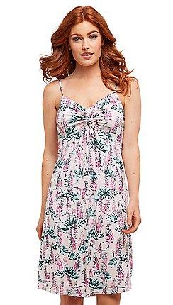 2680f1092f6e Joe Browns - Pink floral jersey  Pretty  knee length summer dress