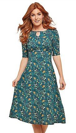 7e17e37fb4b Joe Browns - Multicoloured floral  Vintage Style  midi tea dress