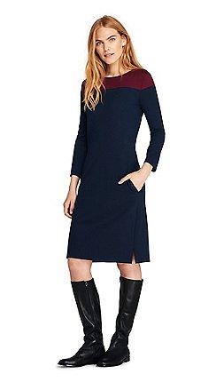 94d0180c Lands' End - Blue plus shift dress with colourblock design
