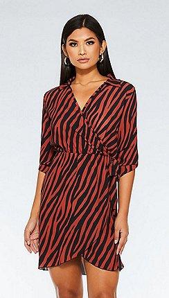 5bb31df28d71 orange - size 14 - Wrap dresses - Dresses - Sale | Debenhams