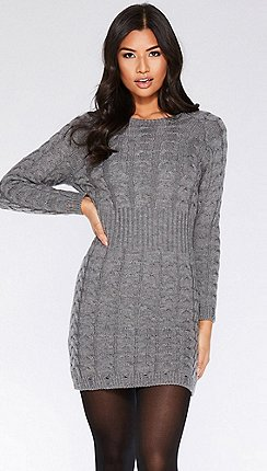 932a3aaa67e2 grey - Jumper dresses - Quiz - Dresses - Sale