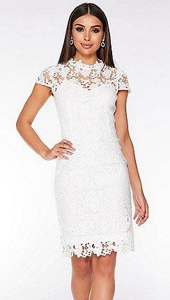 98011ac58316 Short sleeves - white - Lace dresses - Dresses - Women