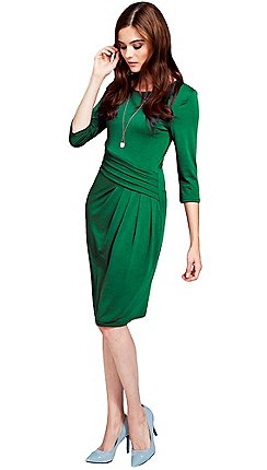 Hotsquash Long Sleeved Lawn Knee Length Dress