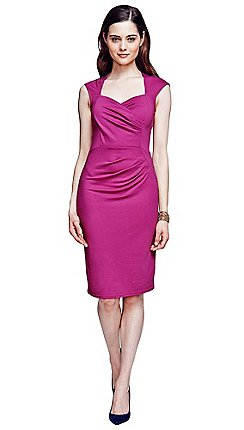 99d6a916aeed HotSquash - Fuchsia short sleeved dress in clever fabric