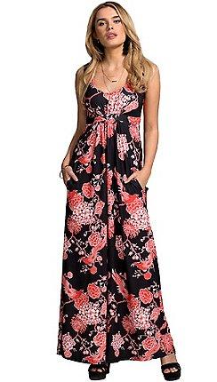 4859a09679 HotSquash - Bird of Paradise print empire line maxi dress