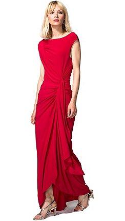 HotSquash - Red Grecian Maxi Evening Dress in Clever Fabric 8c5d48a1b