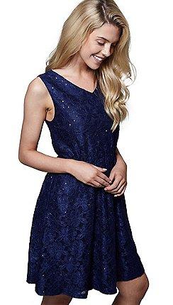 ffef985b8e20 Mela London Blue floral print  Jayda  mini skater dress