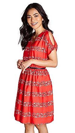 9a362c5586 Short sleeves - red - Cold shoulder dresses - Dresses - Sale | Debenhams